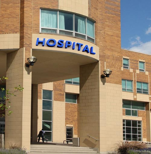 entrance to hospital